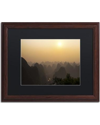 "Trademark Art ""Dusk"" by Philippe Hugonnard Framed Photographic Print PH0412-W1 Size: 16"" H x 20"" W x 0.5"" D Matte Color: Black"