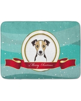 The Holiday Aisle Jack Russell Terrier Merry Christmas Memory Foam Bath Rug THLA5124 Color: Dark Brown