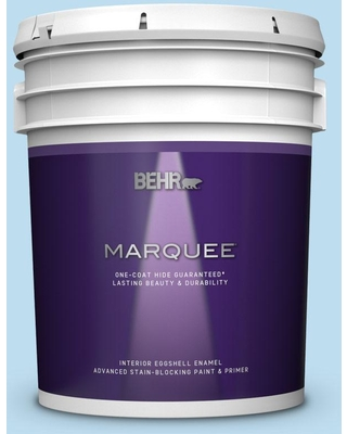 BEHR MARQUEE 5 gal. #550A-2 Tropical Pool Eggshell Enamel Interior Paint and Primer in One