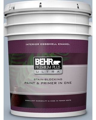 BEHR ULTRA 5 gal. #ICC-45 Calming Space Eggshell Enamel Interior Paint and Primer in One