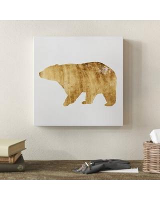 """'Brushed Gold Animals II' Acrylic Painting Print on Wrapped Canvas Millwood Pines Size: 18"""" H x 18"""" W x 2"""" D"""