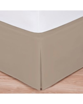 Wrap-Around Wonderskirt Twin Bed Skirt in Taupe