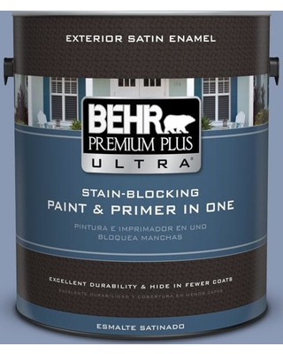 BEHR ULTRA 1 gal. #600F-5 Blueberry Buckle Satin Enamel Exterior Paint and Primer in One