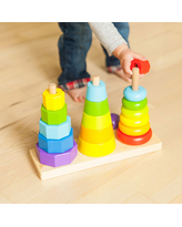 GeoPeg Stacking Tower - Baby Toys & Gifts for Babies - Fat Brain Toys
