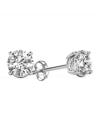 5/8 CT. T.W. Genuine White Diamond 14K Gold Stud Earrings, One Size , No Color Family