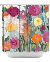 DiaNocheDesigns Earth at Daybreak Flowers Shower Curtain SHO-CarrieSchmittEarthatDaybreakFlowers