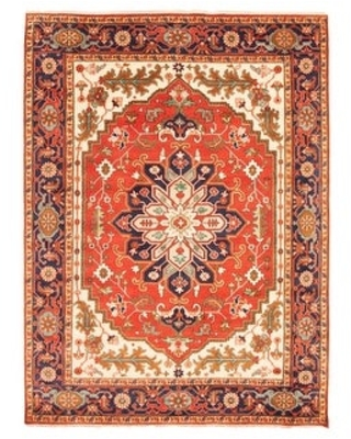 ECARPETGALLERY Hand-knotted Serapi Heritage Red Wool Rug - 8'10 x 11'10