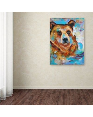 "Trademark Art 'Grizzly Bear' Print on Wrapped Canvas ALI12482-C Size: 47"" H x 35"" W"