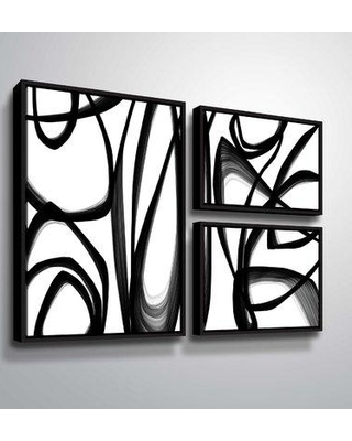 """Orren Ellis 'Abstract Poetry 145' Graphic Art Print Multi-Piece Image on Wrapped Canvas ORNE5613 Format: Black Framed Size: 36"""" H x 48"""" W x 2"""" D"""
