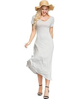 INK+IVY Women's Stretch Maxi Summer Dress with Pockets, Grey, L