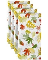 """The Holiday Aisle Hyde Leaves Allover 18"""" Napkins W000412027"""