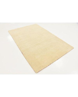Latitude Run Taul Hand-Knotted Wool Beige Area Rug LTTN3583 Rug Size: 4' 0 x 5' 7