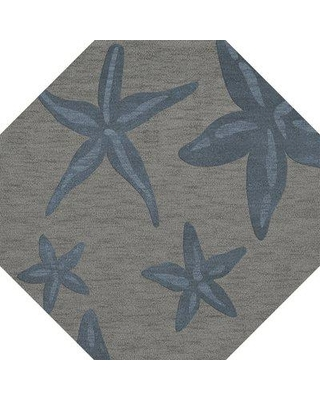 Rosecliff Heights Shook Gray/Blue Area Rug W001587528 Rug Size: Octagon 8'