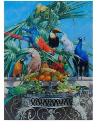 "World Menagerie 'Who Let the Birds Out' Acrylic Painting Print on Wrapped Canvas WRME2746 Size: 19"" H x 14"" W x 2"" D"