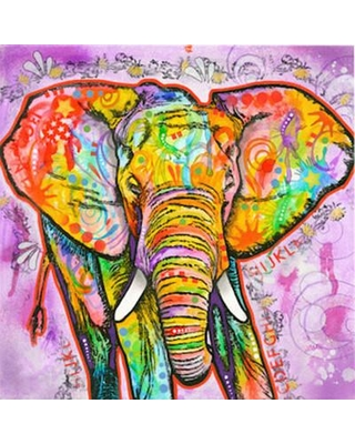 "Bungalow Rose Elephant Painting Print on Canvas BNGL1886 Size: 12"" H x 12"" W x 0.75"" D"