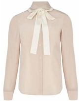 Lavaliere Silk Shirt - Natural - RED Valentino Tops