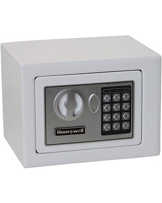 Honeywell 0.17 cu. ft. Steel Small Security Safe with Electronic Lock, 5005W White