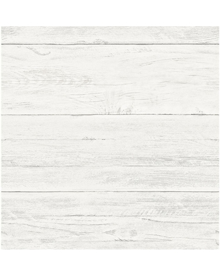Brewster White Washed Boards Cream Shiplap Cream Wallpaper Sample, Ivory