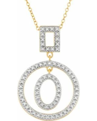"""""""18k Gold Over Silver Geometric Pendant Necklace, Women's, Size: 18"""", Yellow"""""""