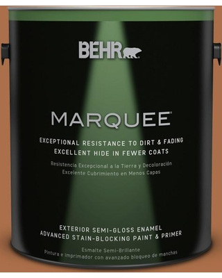 BEHR MARQUEE 1 gal. #260D-7 Copper Mountain Semi-Gloss Enamel Exterior Paint and Primer in One