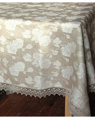 Tablecloth Wedding Tablecloth Lace Tablecloth mothers day gift Linen Tablecloth