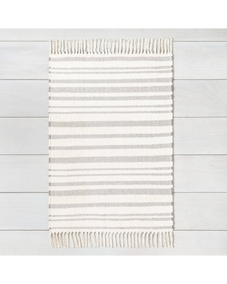 2'x3' Rug with Fringe Gray - Hearth & Hand with Magnolia, Size: 2'x'3'