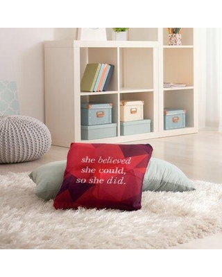 "East Urban Home Women Empowerment Throw Pillow EBJZ8472 Size: 30"" H x 30"" W Color: Ruby"