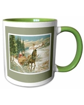 The Holiday Aisle® Taylorsville Christmas Card with a Couple in a Horse Drawn Sleigh Coffee Mug X112542393