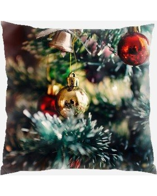 The Holiday Aisle Parada Christmas Tree Indoor/Outdoor Canvas Throw Pillow W000905432