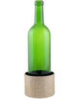 Everly Quinn Surface Protector Metal Decorated Wine Bottle Coaster EYQN1426