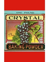 "Buyenlarge 'Crystal Baking Powder Grapes' by Saint Louis Label Works Vintage Advertisement 0-587-31541-5 Size: 36"" H x 24"" W x 1.5'' D"