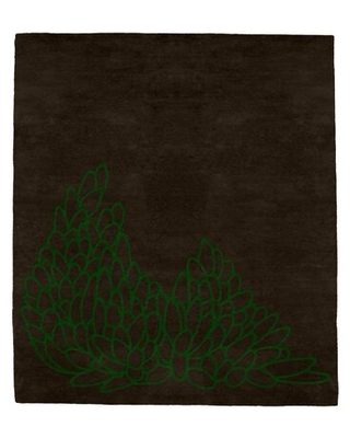 New Deal For Leaves Forest Hand Tufted Wool Brown Area Rug Modern Rugs Rug Size Rectangle 6 X 9