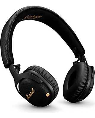 e1a180bd20a Marshall Mid ANC Active Noise Cancelling On-Ear Wireless Bluetooth Headphone,  Black (04092138