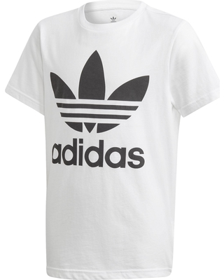 adidas Originals Boys' Trefoil Graphic T-Shirt, Boy's, Size: Small, White