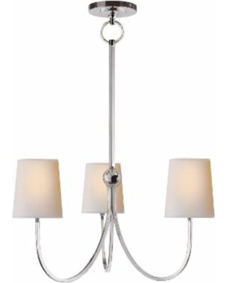 Visual Comfort and Co. Thomas O'Brien Reed 20 Inch 3 Light Chandelier - TOB 5009PN-NP
