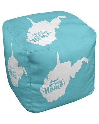 East Urban Home Home Sweet Charleston Wv Ottoman in Cube Insert (18 x 18 x 18) EBJC3338 Upholstery Color: Teal