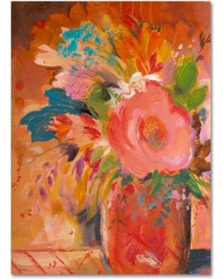 """Trademark Fine Art 'Copper Vase 3' by Sheila Golden Painting Print on Canvas SG5651-C Size: 19"""" H x 14"""" W x 2"""" D"""