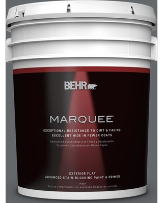 BEHR MARQUEE 5 gal. #PPU26-02 Imperial Gray Matte Exterior Paint and Primer in One