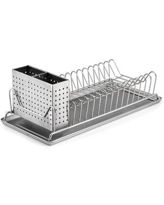 Prep & Savour Compact Stainless Steel Countertop Dish Rack X114522508