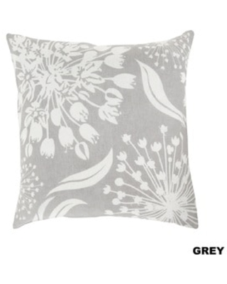 Decorative Cortez Floral 20-inch Throw Pillow (Polyester - Grey)