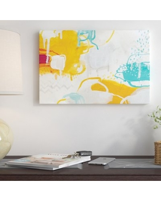 "'Playful Color I' Painting Print on Wrapped Canvas East Urban Home Size: 18"" H x 26"" W x 1.5"" D"