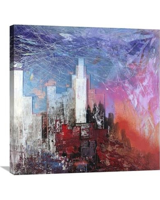 """Global Gallery 'Skyscraper' by Italo Corrado Painting Print on Wrapped Canvas GCS-393627 Size: 30"""" H x 30"""" W x 1.5"""" D"""
