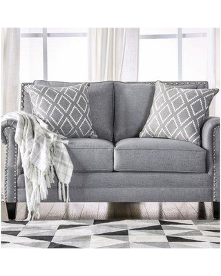 Darby Home Co Buda Loveseat DRBH1039 Upholstery: Gray