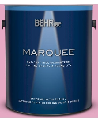 BEHR MARQUEE 1 gal. #P130-3 Little Princess Satin Enamel Interior Paint and Primer in One