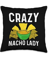 Best Nacho Beef Cheese Tortillas Corn Meal Designs Cool Nacho Gift For Women Aunt Taco Chips Mexican Snack Food Throw Pillow, 16x16, Multicolor