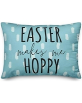 The Holiday Aisle® Bever Easter Makes Me Hoppy Lumbar PillowPolyester/Polyfill/Polyester/Polyester blend in Black, Size 14.0 H x 20.0 W x 1.5 D in