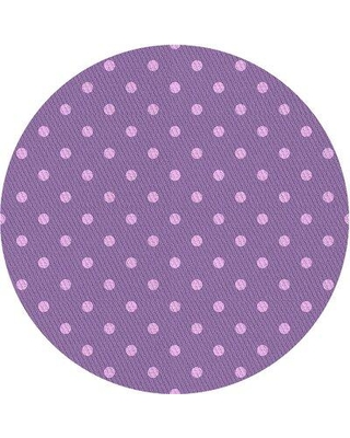 East Urban Home Hollowell Polka Dots Wool Purple Area Rug X111247169 Rug Size: Round 3'
