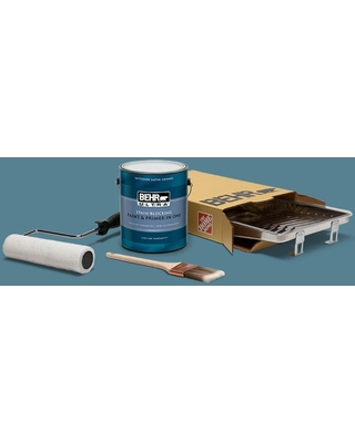 Can T Miss Bargains On Behr 1 Gal S470 5 Blueprint Extra Durable Satin Enamel Interior Paint And 5 Piece Wooster Set All In One Project Kit