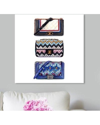 """House of Hampton 'Doll Memories Le Resort Collection' Graphic Art Print W000760554 Size: 24"""" H x 24"""" W x 1.5"""" D Format: Wrapped Canvas"""