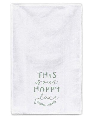 Gracie Oaks This is Our Happy Place Tea Towel W001856075
